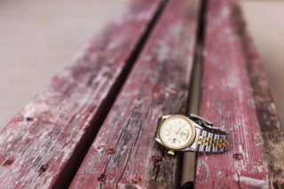 watch on a log