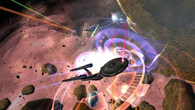 Star Trek Enterprise in battle