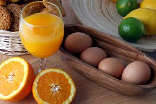 Breakfast juice eggs
